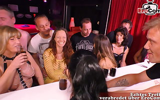 German amateur swinger party with young couple and groupsex