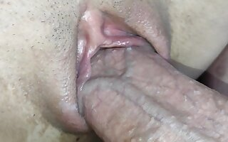 I take advantage be fitting of my stepsister's little pussy at night